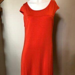 BLOOMS Orange Sleeveless Dress in size M